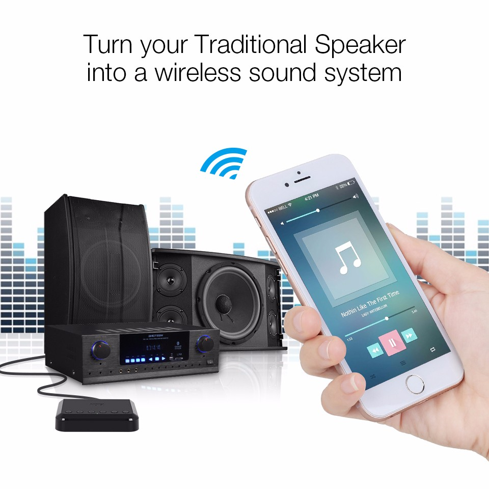 August WR320 WIFI Wireless Audio Receiver Airplay DLNA Multiroom Wireless Music Adapter for Wired HiFi Speakers System Spotify