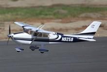 Fms 1400mm/1.4 m sky trainer cessna 182 at blu 5ch con alette led pnp scala modello di aereo rc aeromobili principiante trainert(China (Mainland))