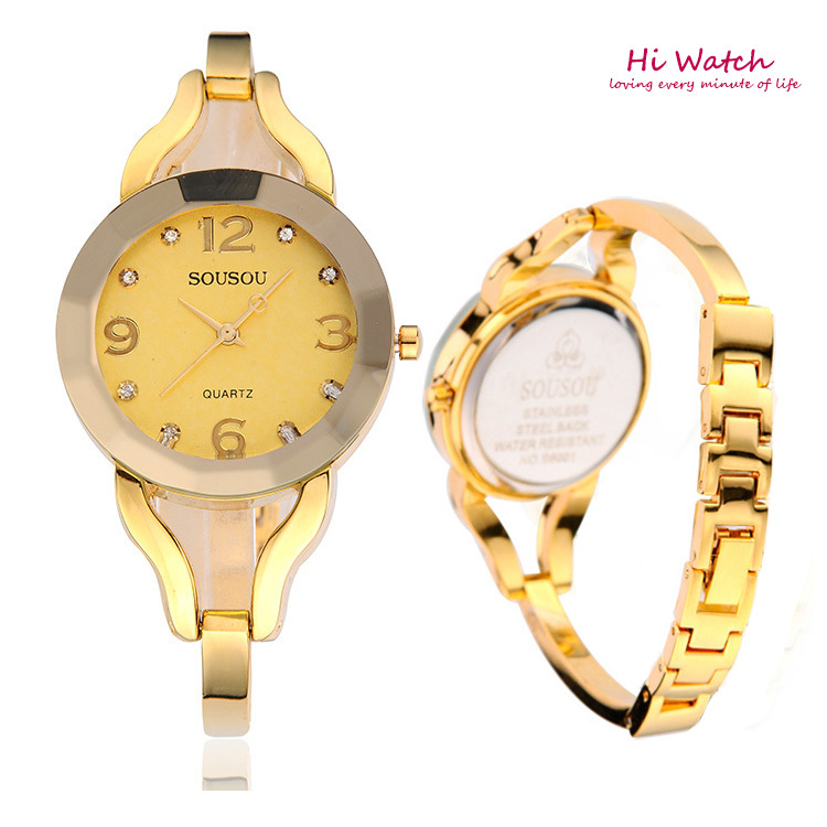Coupon!! 2014 High Quality New Fashion Montre Femme De Marque Women Wristwatches Luxury Gold Relogio Feminino Free Shipping<br><br>Aliexpress