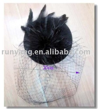 feather fashion fascinator with hair clips on back,fit for cocktail party or wedding party 12 pcs/lot free shipping
