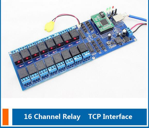 Network Switch Industrial Network 16 Channel TCP Relay,Remote Control Switch,16 Channel Relay Output with timing function<br><br>Aliexpress