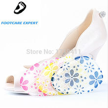 1 Pair Gel forefoot Silicone Shoe pad Insoles women's high heel Elastic Cushion Protect Feet Care Pads accessories htc-024
