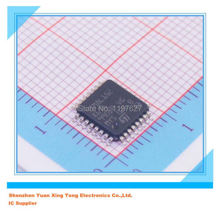 10PCS/LOT STM8L152K6T6 MCU Flash with LCD, timers, USART, I2C, SPI, ADC, DAC, comparators Original electronics IC kit(China (Mainland))