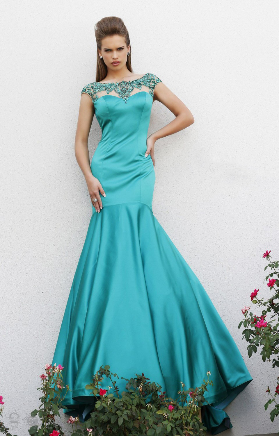 Turquoise evening dress sale