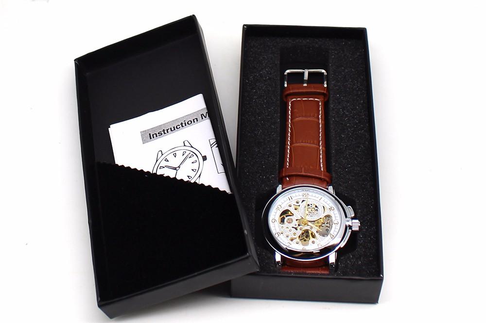 Relojes Мужчины SHENHUA Мотор Вращающийся Безель Авто Механическая Скелет Из Нержавеющей Стали Группа Мужчины Спортивные Часы Deportivos Horloges