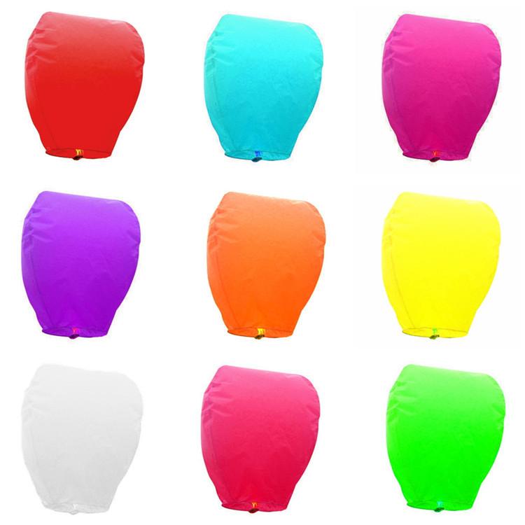 Free Shipping 300pcs pure colour manufacturer selling Chinese wish lantern kongming lantern ECO sky wishing lamp(China (Mainland))