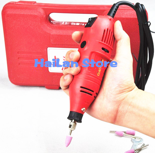 FreeShipping Mini electric drill 70pcs grinding accessories Multifunction Engraving machine Electric tool set kit