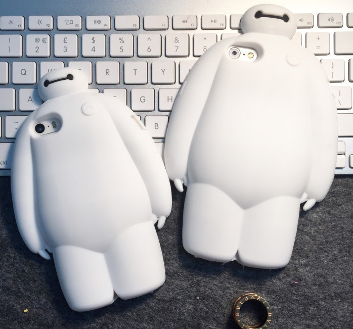 3d cute cartoon fashion Unique Custom case lovely baymax soft silicone cover iPhone 5 5s 6 6s 4.7 5.5 inch plus - Threesha Digital accessories Store store