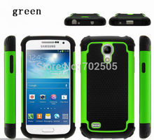 Free SCREEN PROTECTOR Hybrid Rugged Rubber Hard Case Cover For  SAMSUNG GALAXY S4 MINI I9190   free shipping
