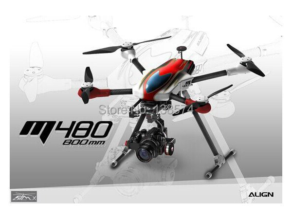 Align M480 4 Rotos Brushless Quadcopters with 3 axis Gopro Brushless Gimbal