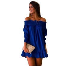 Sexy Women Mini Dress Robe Plus Size Cut Out Eyelash Lace Chiffon Sweets Short Kawaii Tunic
