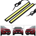 2pcs 17CM 12v led drl cob Ultra thin waterproof fog lights parking DRL led daytime running
