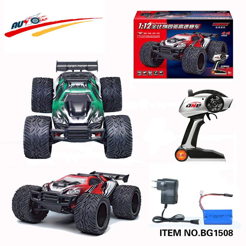 High Speed RC car BG1508 45KM/h1/12 2.4G RTR Remote control Truck Off road Car Big Foot RC 4WD Buggy Toy VS WLtoys K949 RC Car(China (Mainland))