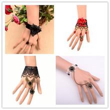 dropshipping ring bracelets hot new products for 2014 wholesale Vintage vampire Lolita fashion Lace bracelet jewelery stockLOT(China (Mainland))