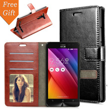 Zenfone2 laser Case 5.0 '' Leather Flip Stand + Card Slot Photo Frame Phone Cover Asus Zenfone 2 Laser ZE500K - Phonefans Store store