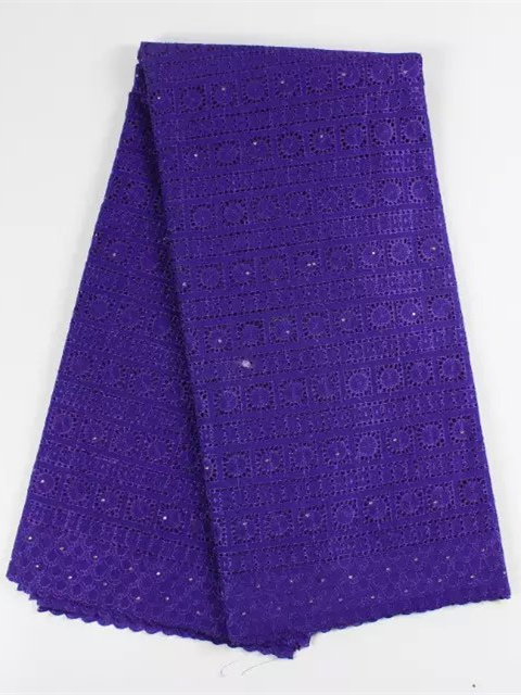 Nobel design purple embroidery Swiss voile lace fabric African cotton lace apparel material for dress YBG072(5yards/lot)(China (Mainland))