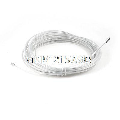 30M White Plastic Coated Steel Flexible Fish Tape Electric Wire Cables Puller