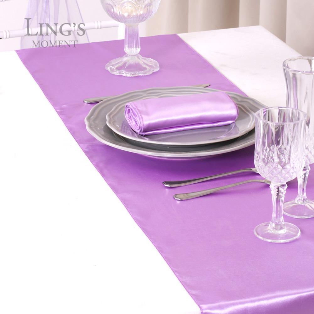 ... Satin For Table Lavender Wedding Table Wedding Runner Runner Beach  Decoration Lavender Theme Table