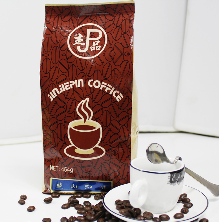 Imported fresh baked Blue mountain coffee beans organic black coffee 454 g free shipping