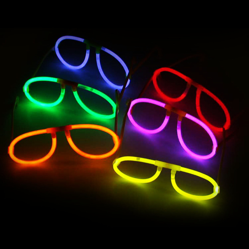 NEON LUMINOUS GLOW STICKS EYEGLASSES BIRTHDAY PARTY CONCERT CLUB ACCESSORY(China (Mainland))