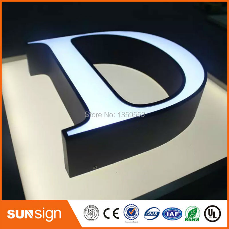 led illuminated metal letter signs type LED channel letter signs(China (Mainland))