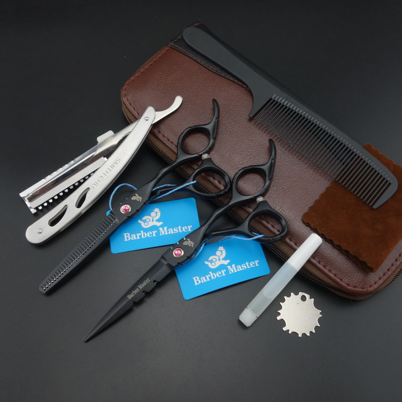 6.0 in. Barber Master Professional Hair scissors set,Cutting & Thinning scissors,sharp edge,good quality(China (Mainland))