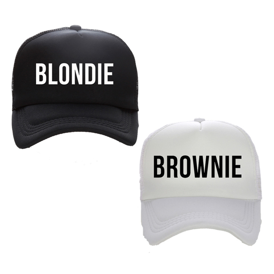 BLONDIE BROWNIE Print Trucker Caps Polyester Women Gift For Her High Quality Flat Bill Hip-Hop Snapback Hat Gorras Free Shipping(China (Mainland))