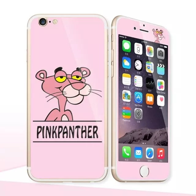 Glow in the dark luminous raised pinkpanther Tempered Glass film font b Screen b font font