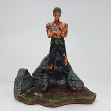One Piece Figure Roronoa Zoro Bloody Resin Action Cartoon Figurine Toys Juguetes - Fantasy-Home store