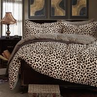 40S Cotton Bedding Sets Queen  Duvet Covers Set,Leopard Printing activity Bed Set set linens bedclothes #CM4874