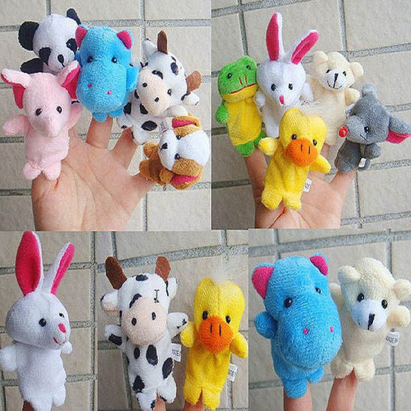 10pcs/Lot Cartoon Animal Velvet Finger Puppet Finger Toy Finger Doll Baby Cloth Educational Hand Toy Story(China (Mainland))