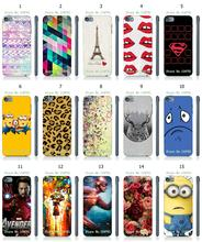 Mobile Phone Case Hot 1pc Minions Owl Avenagers Hybrid Design Protective White Hard Case For ipod touch 5 5th Free Shipping