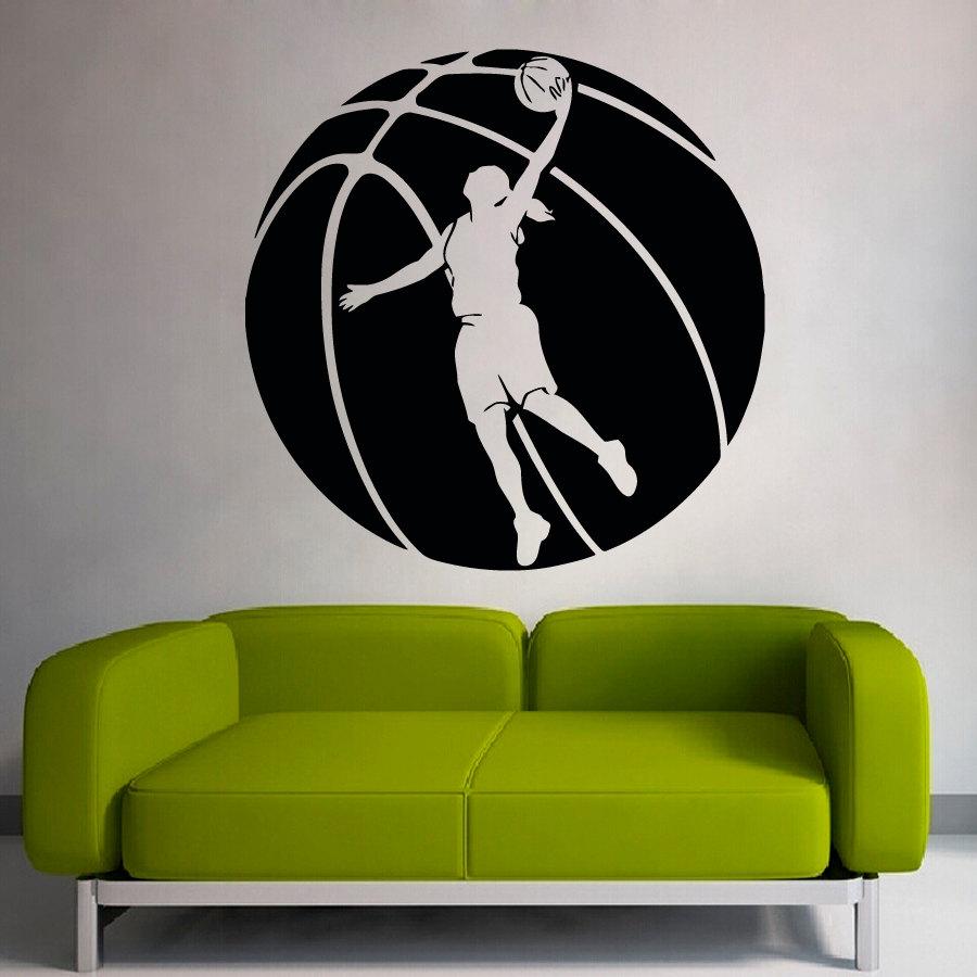Online get cheap basketball wall murals for Basketball wall mural