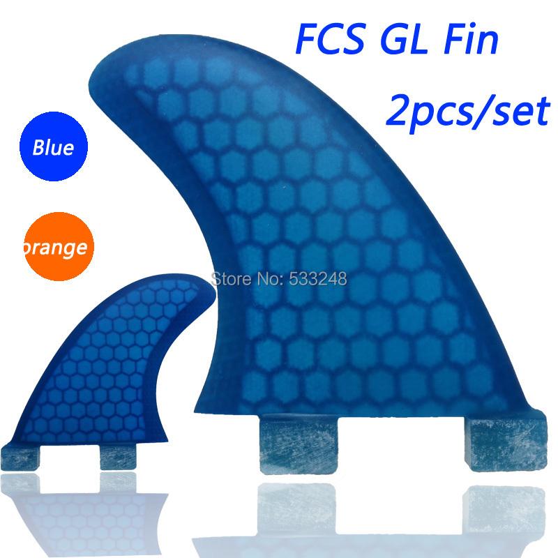 Blue/orange fiberglass FCS GL surf board fin(China (Mainland))