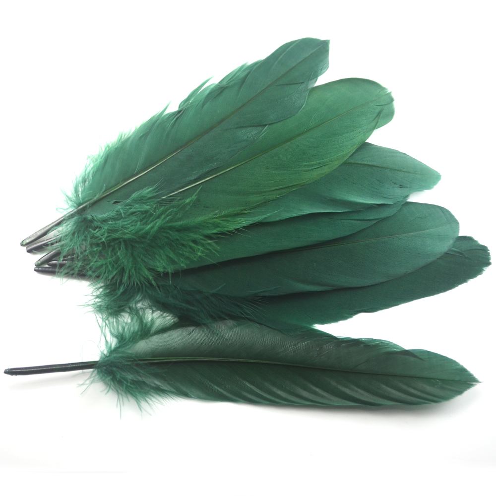 Factory Wholesale Fishing Fly DIY Big Goose Green Feather Fly Fishing Tying Accesoires Material 50PCS/LOT(China (Mainland))