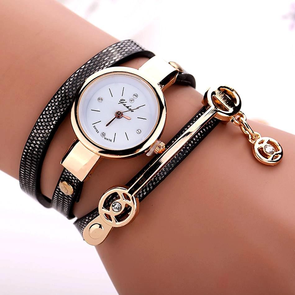 New Fashion Style Leather Casual Bracelet Watch Wristwatch Women Dress Watches Long Leather Bracelet Watch<br><br>Aliexpress