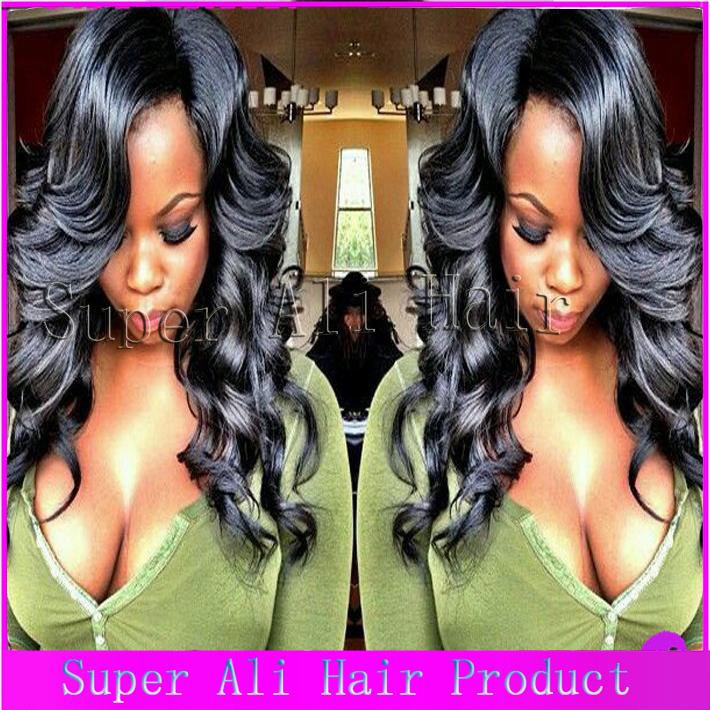 2015 New u part body wave wig middle left right 150Density Virgin Human Brazilian U Part Wig For Black And White Women freeship(China (Mainland))