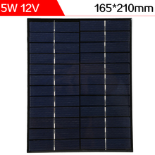 Buy ELEGEEK 5pcs 5W 12V Polycrystalline Silicon DIY Solar Panel 12V Mini Solar Cell for DIY Test and Education Use for $37.98 in AliExpress store