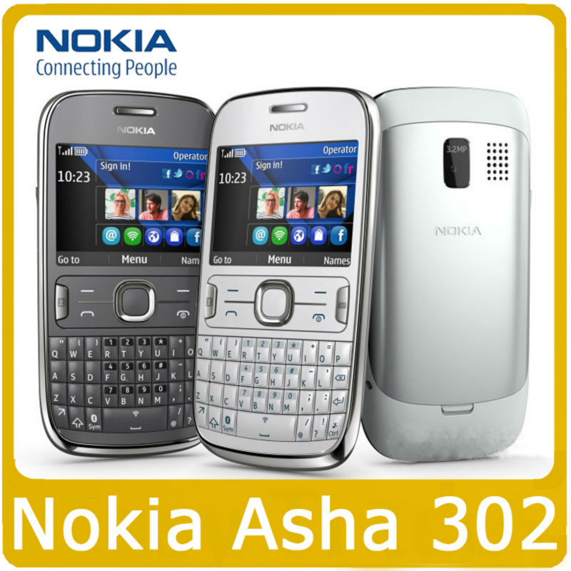 Original Unlocked Nokia Asha 302 3G network GSM WIFI Bluetooth JAVA 3.15MP Camera Mobile Phone Wholesale In Stock(China (Mainland))