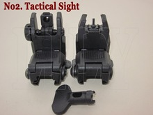 Free Shipping Hunting Tactical  Gen 2nd Front and Rear Folding Back up Shooting Sight  Scope with Key Fit 20mm Weaver Rail Mount