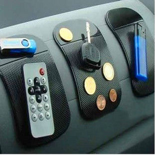 Promotion Powerful Silica Gel Magic Sticky Pad Anti Slip Non Slip Mat for Phone PDA mp3 mp4 Car Accessories Multicolor(China (Mainland))