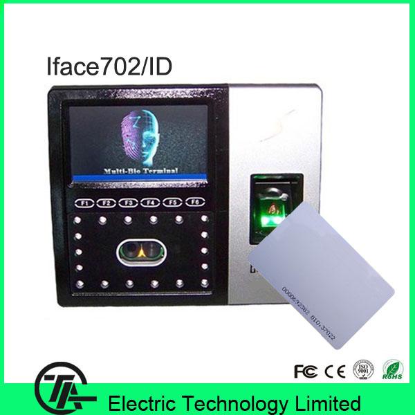 ID card face recognition fingerprint clock access control machine iFace702 face,fingerprint ,RFID card time attendance(China (Mainland))