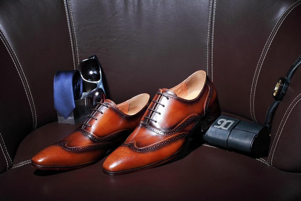 New Arrvial Gentlemen cow leather Wing tip mens shoes Lace up Dress suit wedding shoes men fashion shoe<br><br>Aliexpress