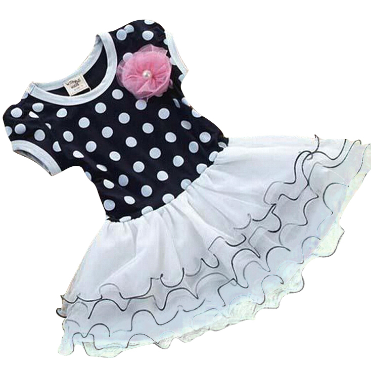 kids girl dress Tutu dress Girl 2015 new Princess Kids Dot pattern Girls dresses Pettiskirt Lolita Style Flouncing 2 Color(China (Mainland))