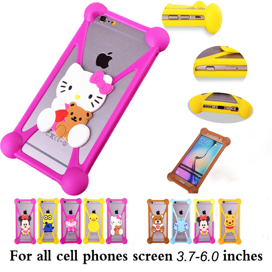 Anti-knock 3D Cute Cartoon Soft Silicone Case For LG G3 Stylus D690 Back Cover For LG G3 Stylus D690 Phone Case(China (Mainland))