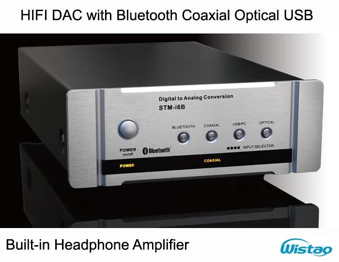 HIFI DAC Decoder with Fiber Coaxial Headphone Amplifier Bluetooth 4.0 U CSR Disk Digital Audio Support APT-X<br><br>Aliexpress