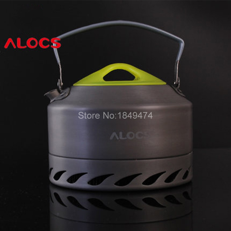 Alocs 0.9L Portable Water Kettles Outdoor Camping Survival Coffee Pot Water Kettle Teapot Aluminum Hiking Camp Cook Set 200g(China (Mainland))