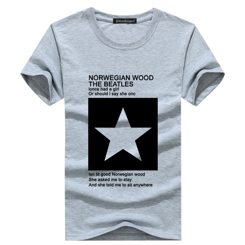2016 men 39 s short sleeved compassionate teen pentagram t for Colour t shirt printing