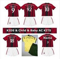 2015 kids gift Ac milan Kids/youth Top Thailand jersey set ,14/15 KAKA HONDA SHAARAWY home/away children Football uniform(China (Mainland))