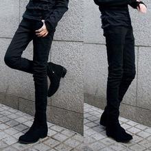 freeshipping Korean fashion casual slim feet were thin pencil stretch men jeans(China (Mainland))